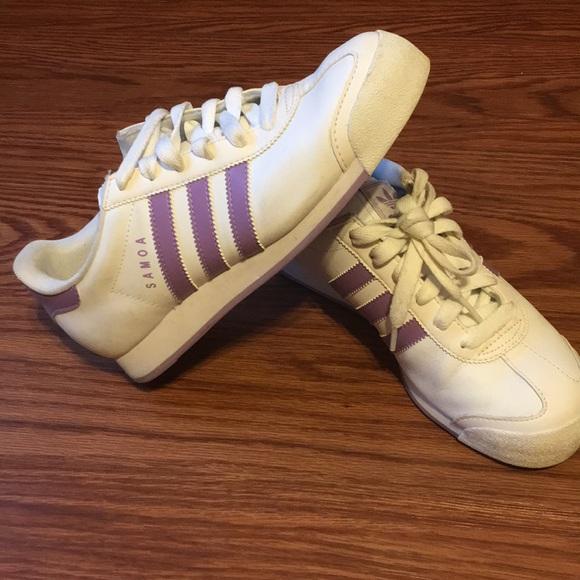 Le Adidas Donna Bianca Taglia 75 Poshmark Samoa Viola